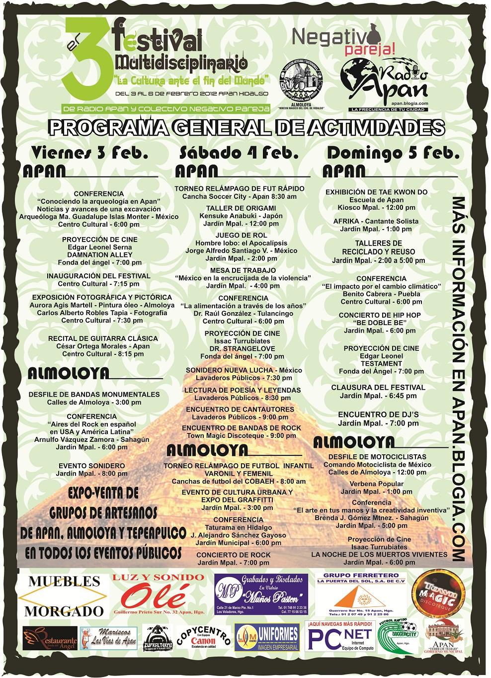 PROGRAMA GENERAL DEL FESTIVAL