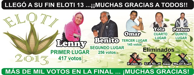ELOTI 2013, LOS GANADORES
